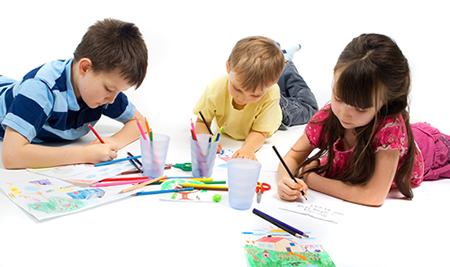 Resultado de imagen para niños pintando