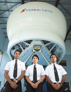Cadets at the SriLankan Airlines Type Rating Training Organisation