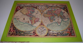 Puzzle de 1000 piezas de Educa, con una cartografía antigua