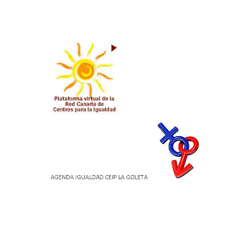 AGENDA IGUALDAD. CEIP LA GOLETA 2014/15