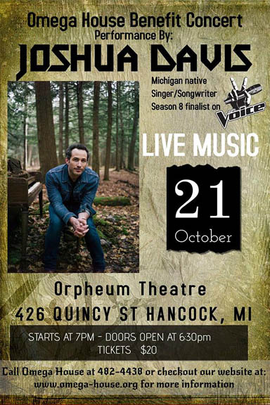 Omega House Benefit Concert Oct. 21 at Orpheum