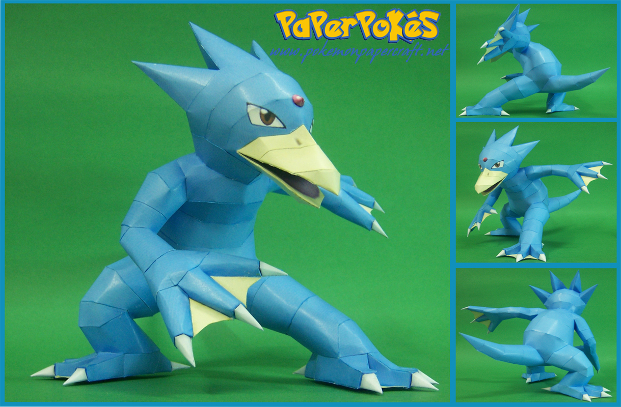 Pokemon Golduck Paper Model