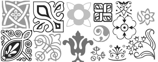 Decorative border font shree248