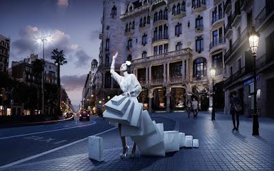 Mujer de compras - Shoping girl