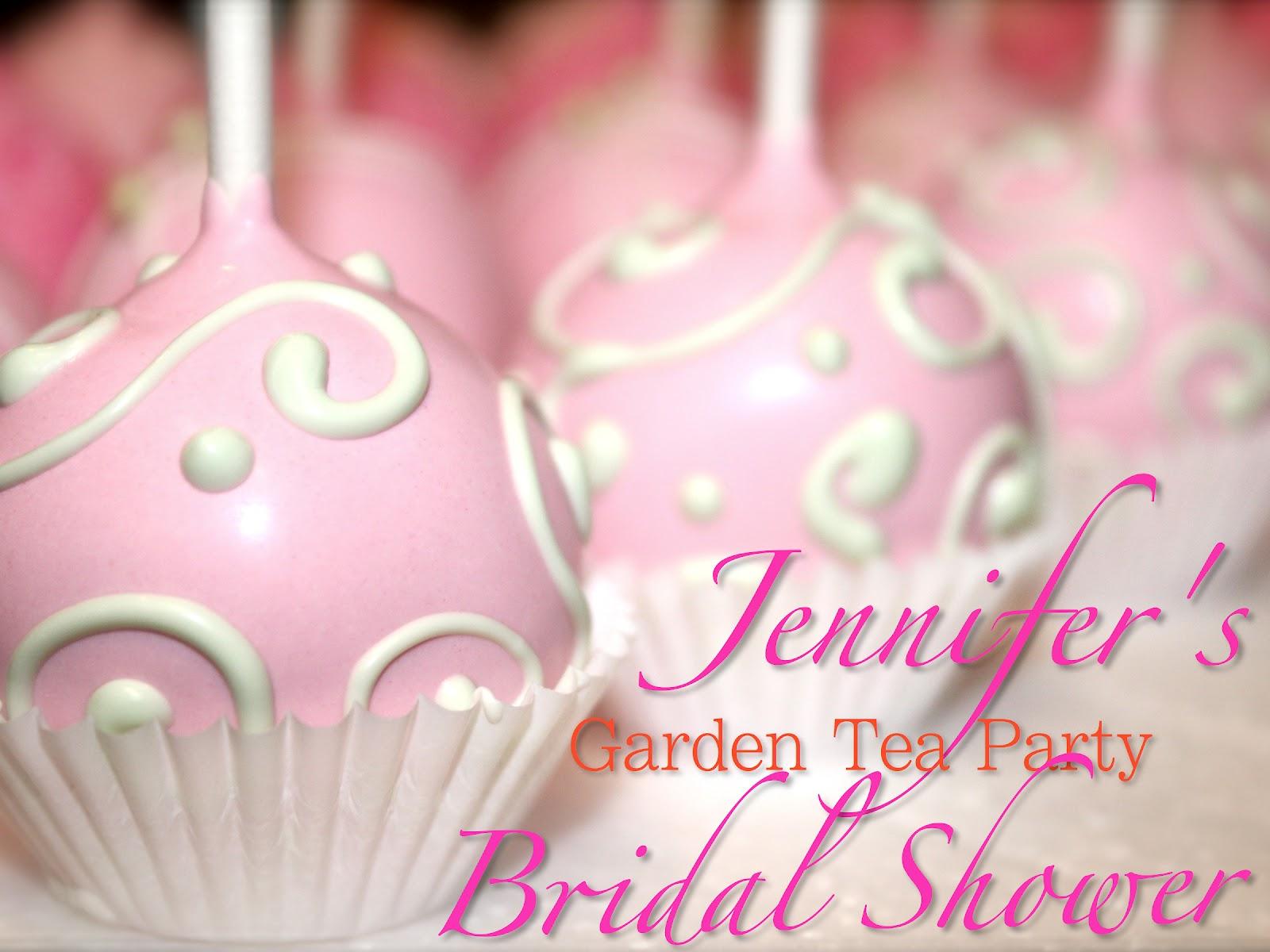 garden tea party treats jennifers wedding shower