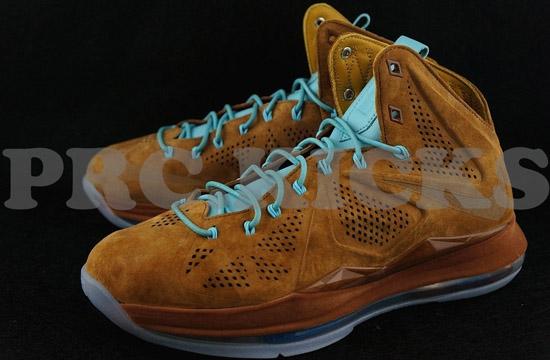 on sale 4ace9 65b6b Nike LeBron X EXT Suede QS Hazelnut Hazelnut-Tide Pool Blue Available Early  On eBay