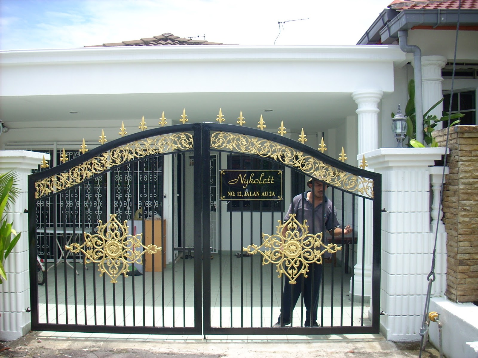 Nice Home Front Gate Designs   Main Gate Home Design