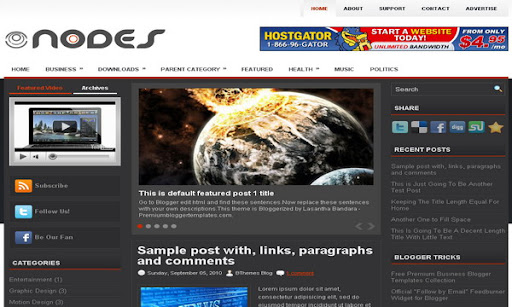 Nodes Blogger Template