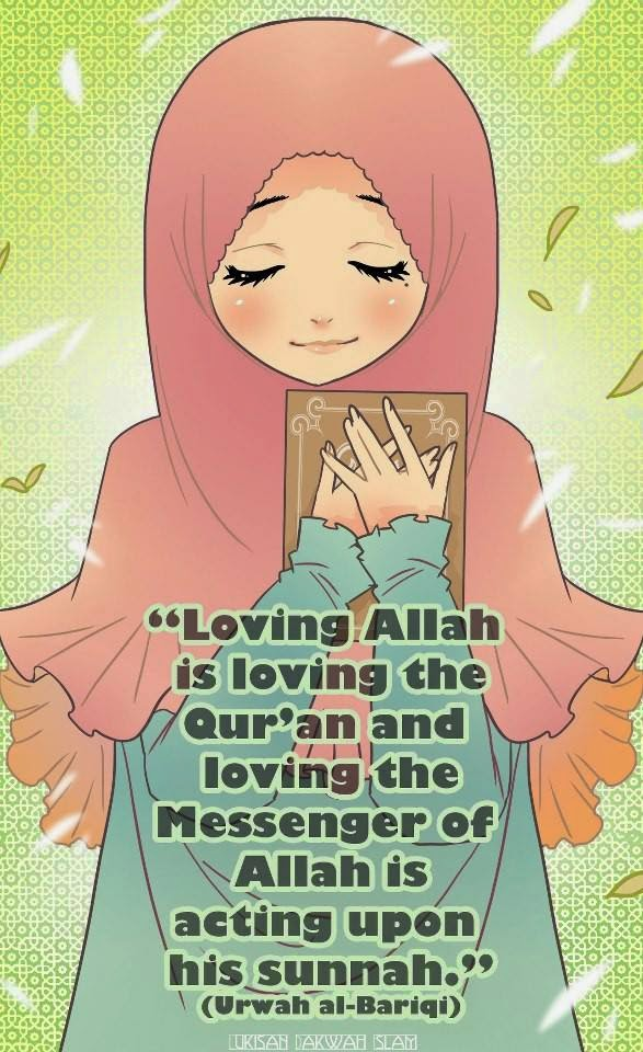Muslimah must loving the Qur'an :)