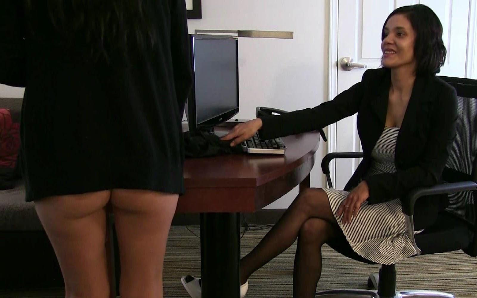 Office intern w big naturals gangbang 3