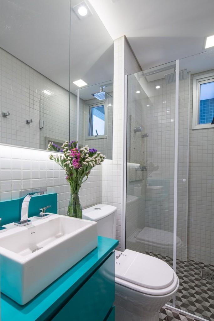 BANHEIROS PEQUENOS MODERNOS 4 ESTILOS + 25 FOTOS  Decor Alternativa -> Pia Para Banheiro Moderno