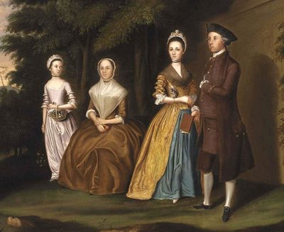 National art gallery paintings of 18th century american families 1771 charles willson peale american colonial era artist 1741 1827 edward lloyd family with wife elizabeth tayloe and daughter anne sciox Images