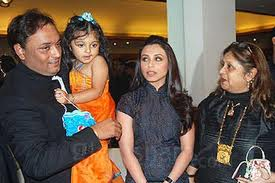 Rani Mukherjee with her family