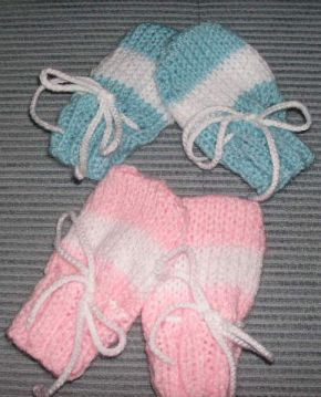 Knitting Pattern Easy Baby Mittens : Knitting Galore: Easy Knit Baby Mittens