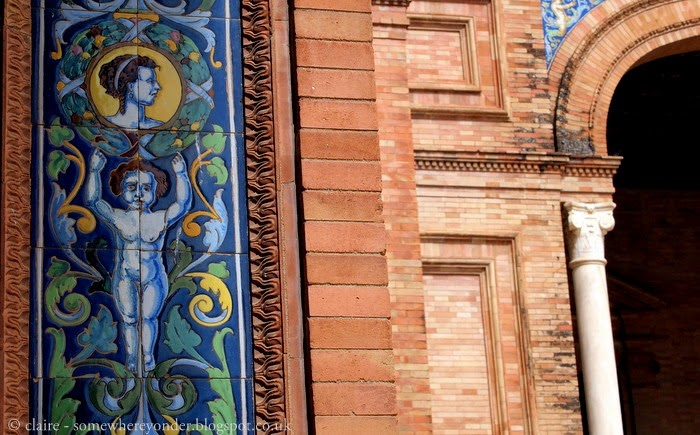 Beautiful tiles adorn many a building in Seville