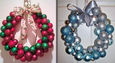 C mo hacer una corona navide a con esferas - Como hacer coronas navidenas ...