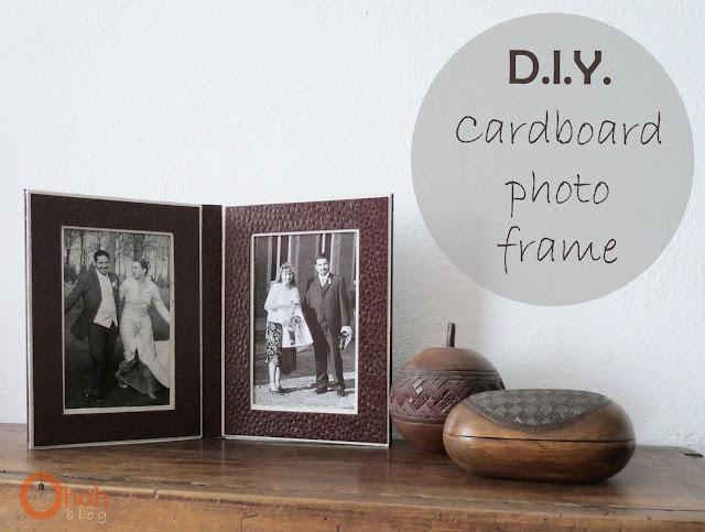 DIY Cardboard photo frame