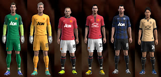 MANCHESTER UNITED KITS 2013-2014 PES 2013
