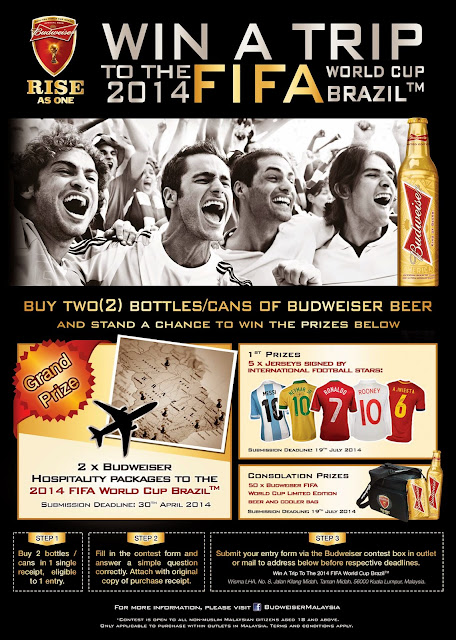 Budweiser Malaysia 2014 FIFA World Cup marketing campaign contest mechanics