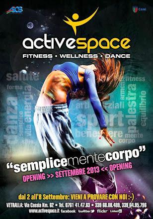 NUOVA APERTURA PALESTRA ACTIVE SPACE FITNESS WELLNESS - DANCE VETRALLA VIA CASSIA KM 62 -