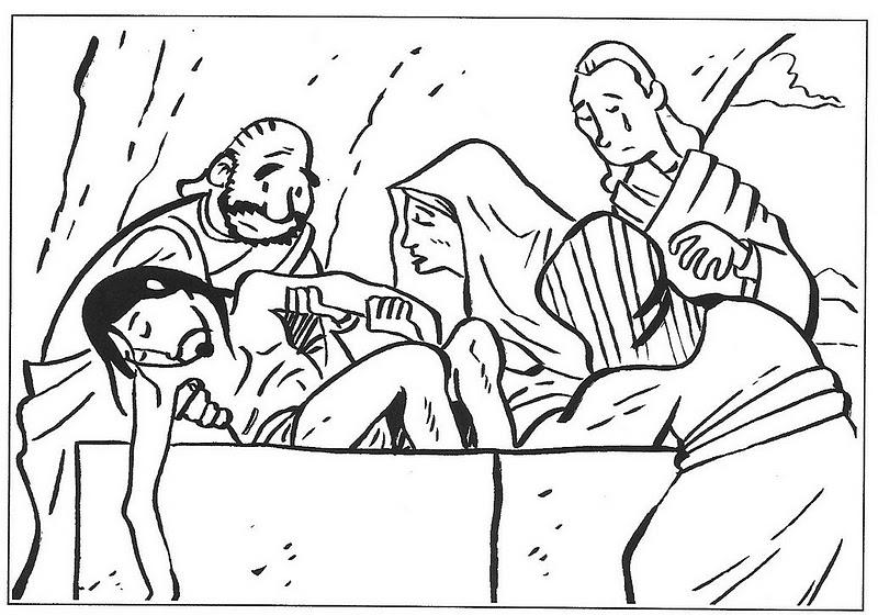 ... LA RELIGIÓN: Dibujos para colorear pasión, muerte y resurrección de