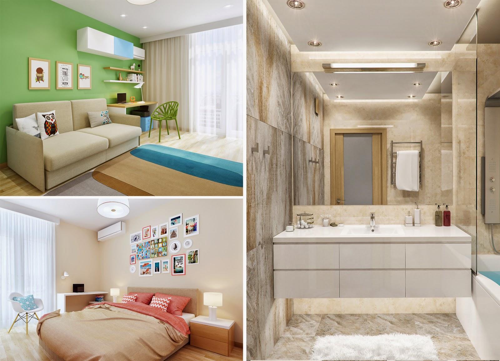 Дизайн трехкомнатной квартиры в Комфорт Тауне