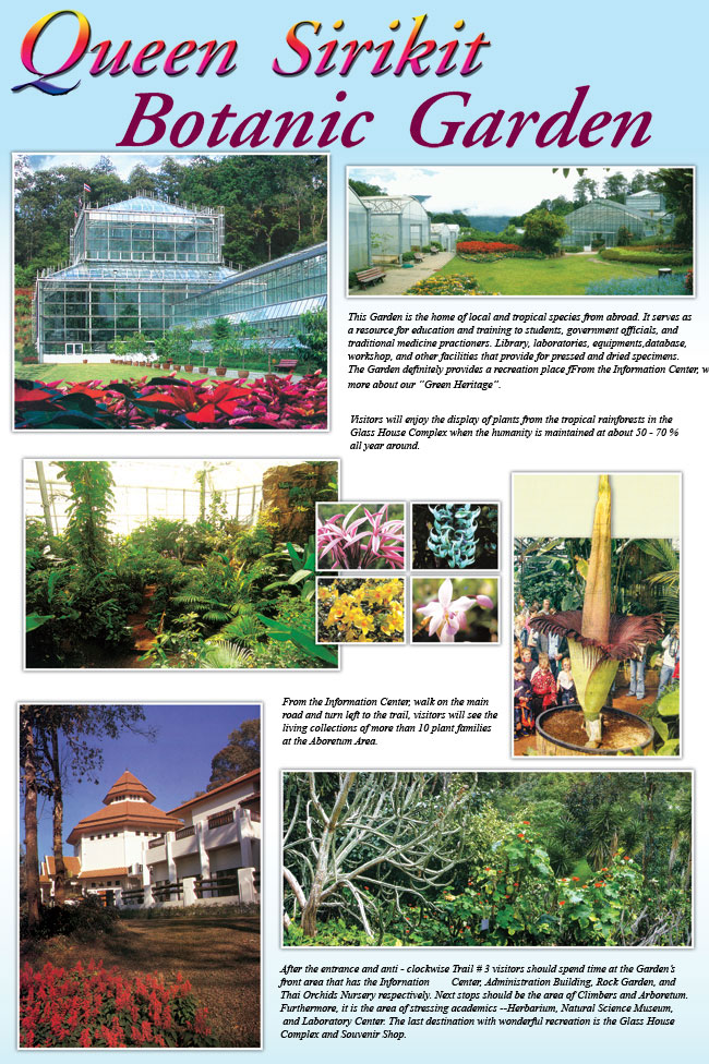 The Name Of The Queen Sirikit Botanical Garden To The North, This Oasis Has  Become A Center That Is Internationally Recognized For Research On  Plant Related ...