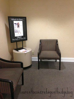 seating area in dillards bathroom