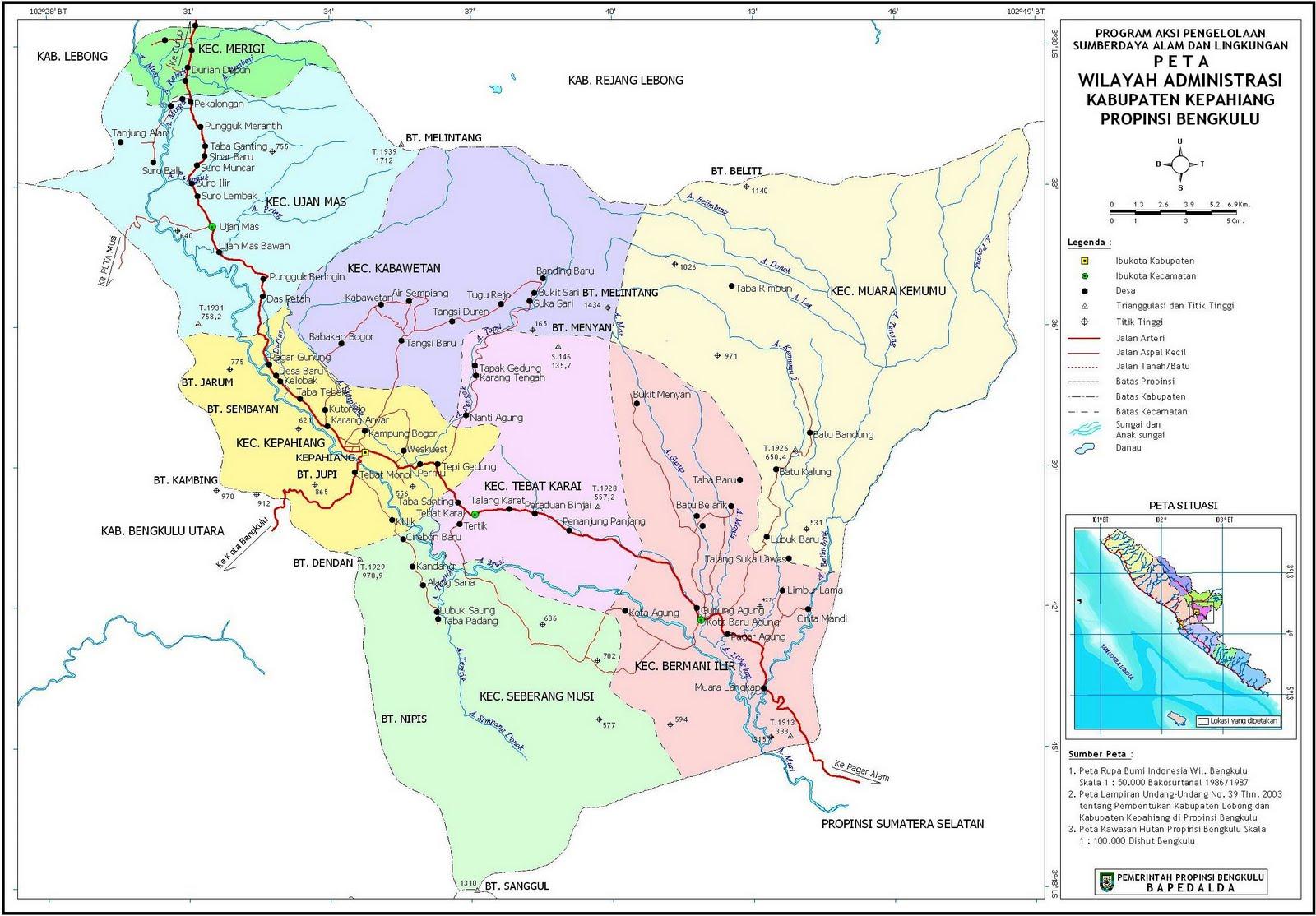 Peta Kota: Peta Kabupaten Kepahiang