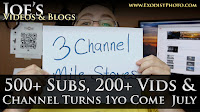 3 Channel Mile Stones: 500 Subs, 200 Videos, Channel Turns 1yo Come July & Blog Future | Joe's Videos & Blogs