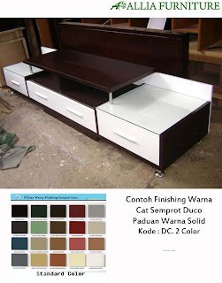 contoh furniture duco paduan warna allia furniture