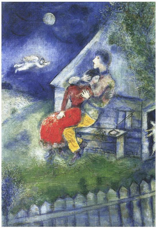Agnes verfaillie chagall for ever love and blue for Marc chagall paris vu de ma fenetre