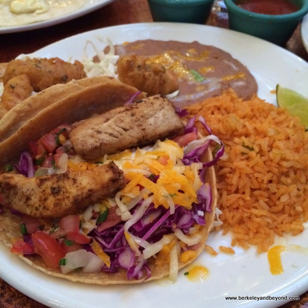 fish tacos at Miguel's Cocina at El Cordova Hotel on Coronado Island, California