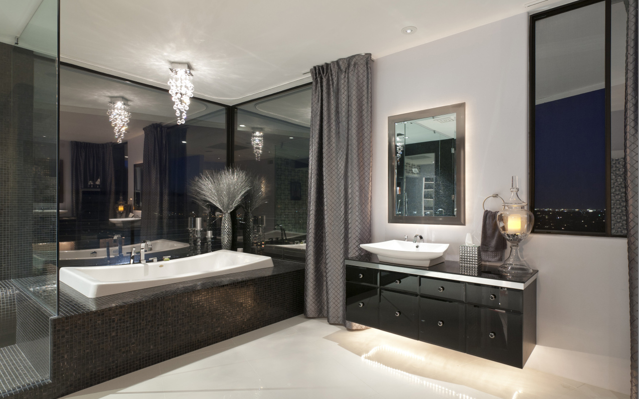 Martin home by spry architecture phoenix architecture for Modern master bath
