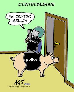 cani poliziotto, diesel, farncia, attentati di parigi, satira vignetta