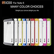 เคส-Note-5-เคส-โน๊ต-5-รุ่น-เคส-Note-5-จาก-Slicoo-แท้-ขอบสีสวยงาม-หลังกึ่งใสลายขนแปรงสวย