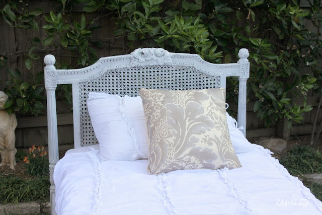 Vintage French wicker bed by Lilyfield Life
