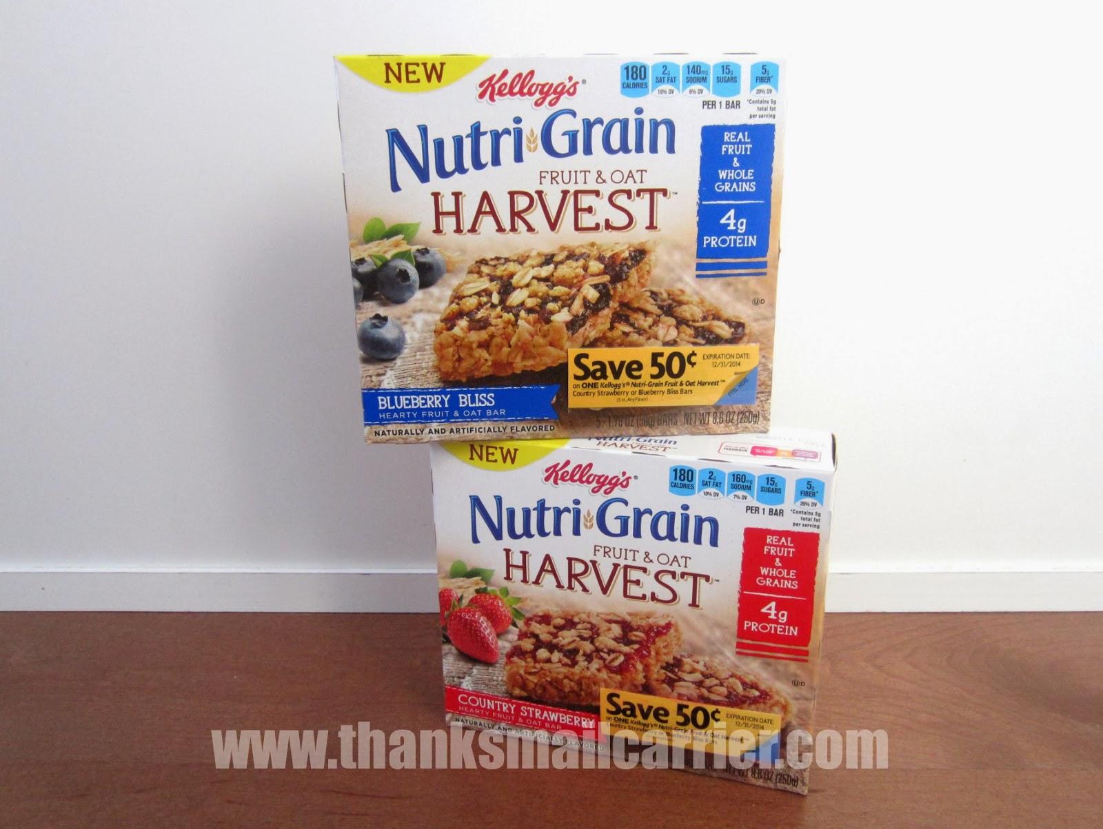 Kellogg's Nutri-Grain Fruit & Oat cereal bars