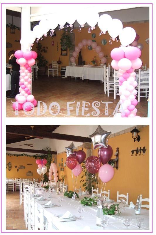 Decoraci n con globos de todo fiesta decoraciones para 1 - Decoraciones en color plata ...