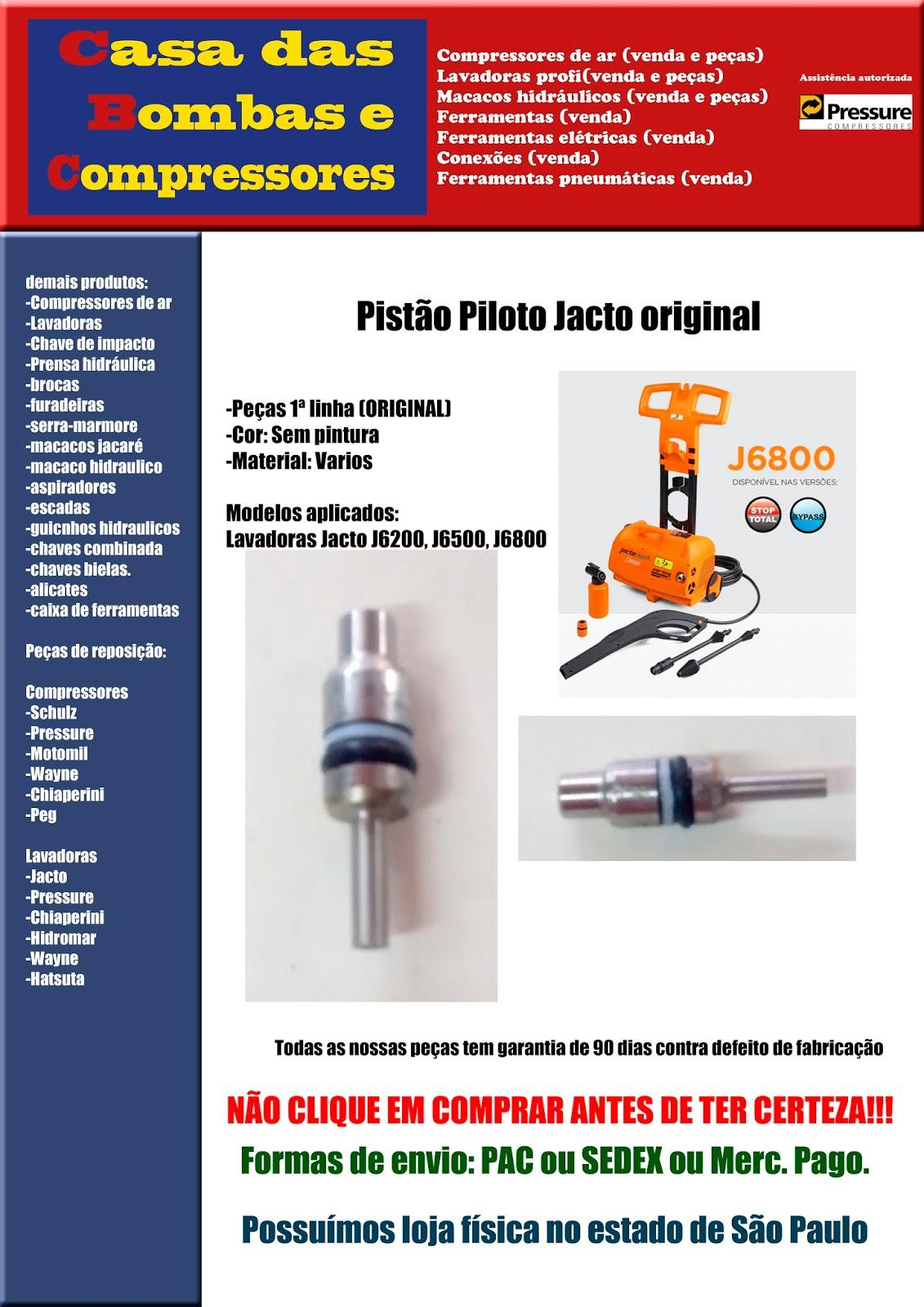 Pistao Piloto Jacto Original Completo em Ourinhos