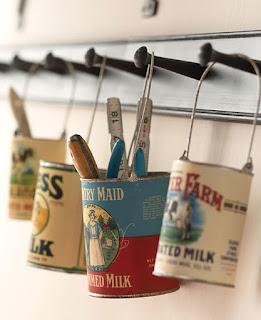 DIY kaleng bekas : Hanging Can Storage
