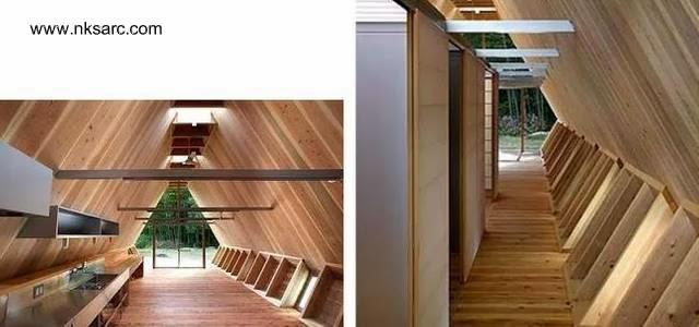Dos imágenes del interior de la casa pequeña