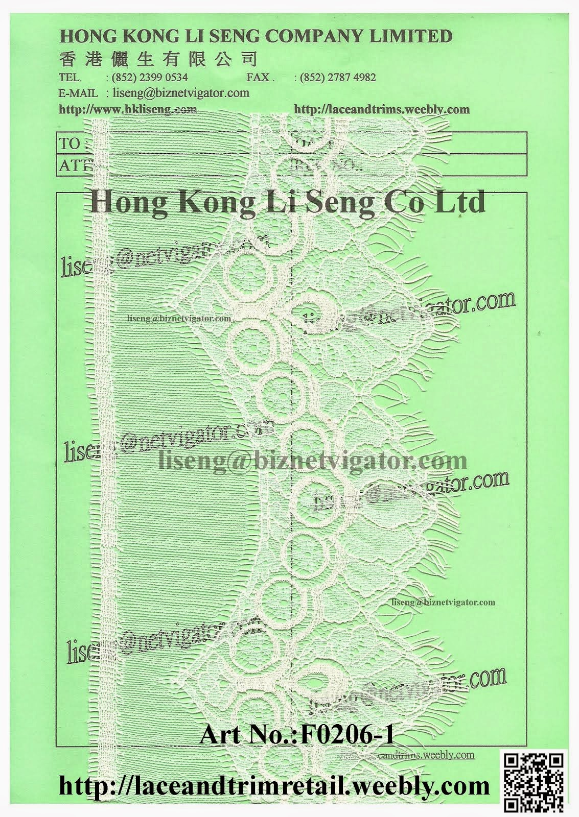 Producing Eyelash Lace Pattern - Hong Kong Li Seng Co Ltd