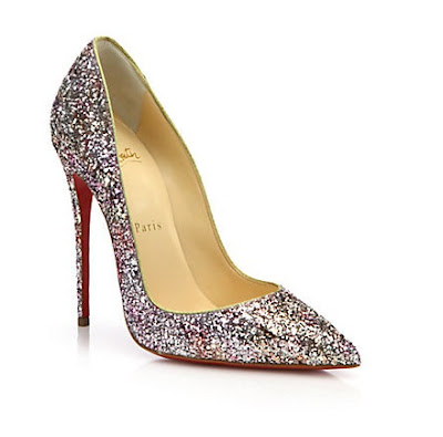 Christian Louboutin So Kate Pumps in glitter