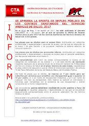 SE APRUEBA LA OFERTA DE EMPLEO PÚBLICO EN LOS CENTROS SANITARIOS DEL SERVICIO ANDALUZ DE SALUD, 201