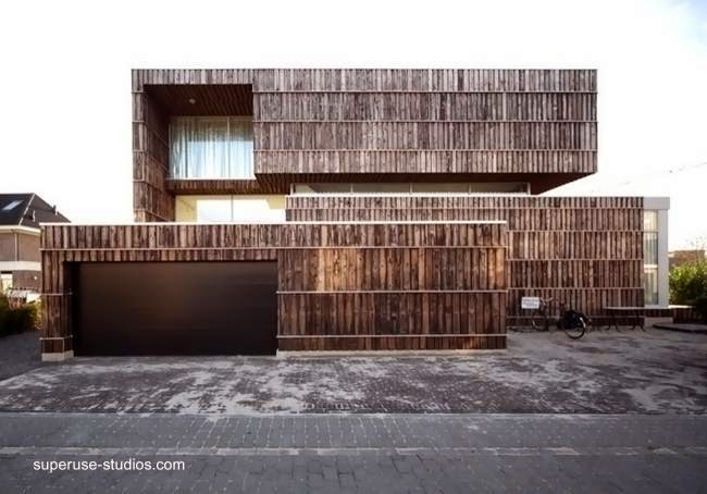 Residencia contemporánea holandesa de material reciclado 2012