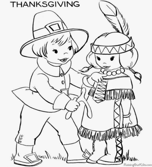 Thanksgiving Coloring Pages For Kids Printable Free