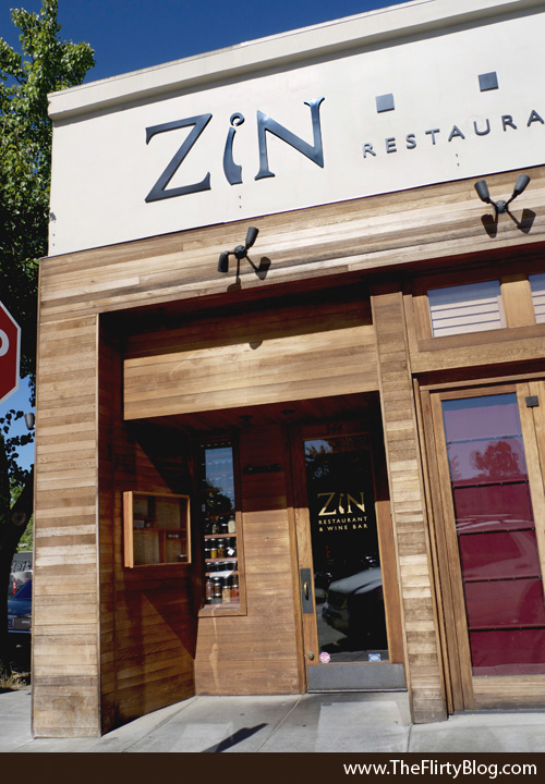 ZiN Restaurant and Wine Bar, Storefront