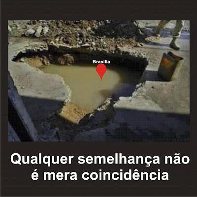 Brasília afundando o Brasil