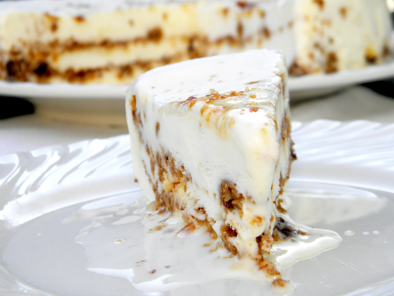 temp: Chocolate Chip Cookie & Praline Ice Cream Cake